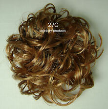 "3"" Scrunchie #27C Lt Ginger Synthetic Hair Ponytail Holder Wig America Mona Lisa"