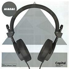 Aiaiai Capital Black Lightweight Foldable Headphone with Mic