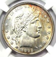 1892 Barber Half Dollar 50C Coin - Certified NGC Uncirculated Detail (MS UNC)!