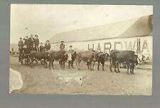 Palacios TEXAS RP 1912 TEAMSTER WAGON Cow Cart MAIN STREET nr Victoria Bay City