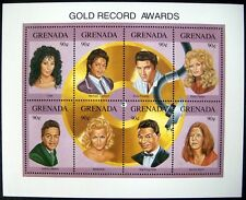 1992 MNH GRENADA ENTERTAINERS STAMPS SHEET GOLD RECORD AWARDS JOPLIN ELVIS CHER