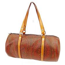 cd4dd3a48 Etro Handbag Paisley Brown Beige Woman unisex Authentic Used T2646