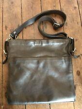 Men's Reiss leather satchel