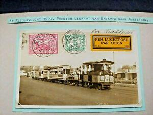 1929 POSTCARD TRAIN TRAM DUTCH NEDERLAND NETHERLANDS INDIES W3.41 $0.99