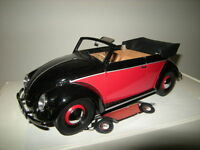 1:18 Minichamps VW Käfer Cabrio 1949 black/red-schwarz-rot Nr. 107054132 OVP