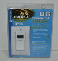 Intermatic ST01CL Digital Self Adjusting Multi Purpose In-Wall Timer 15A - White