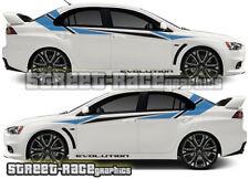 Mitsubishi Side Racing Stripes 024 Autocollants Decals Graphics Vinyl Evo Evolution