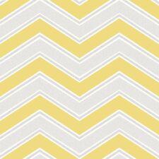Amarillo chevron Wallpaper por Coloroll con Gris zigzags M1144