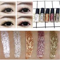 Waterproof Shiny Eye shadow Glitter Liquid Eyeliner Makeup Long Lasting Metallic