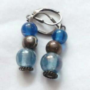 Sterling Silver and Glass earrings X88