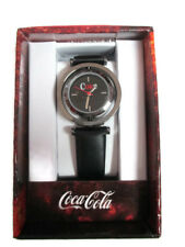 Coca-Cola Accutime  Reversible Watch 22 MM Black - BRAND NEW