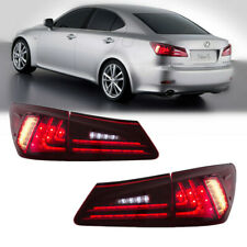 LED Tail Lights For Lexus IS350 IS250 ISF 2005-2013 Tail Lamp Assembly Red Lens