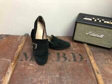 VINCE CAMUTO Women's Black Suede Block Heel Tassel Loafer Shoes Size UK6