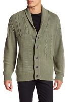 NEW MENS WEATHERPROOF VINTAGE SHAWL COLLAR CABLE KNIT SWEATER CARDIGAN M $145