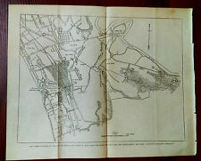 1899 Map Manila Philippines Santa Ana San Pedro Macati Pasai Insurgent Trenches
