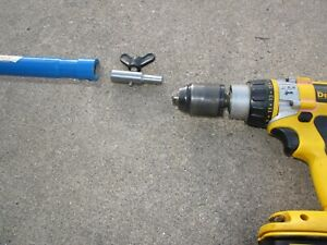 Ice Auger Adapter too Drill