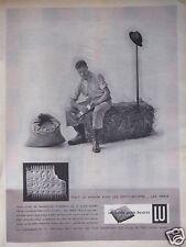 PUBLICITÉ 1958 LE PETIT-BEURRE LU LEFÈVRE-UTILE - AGRICULTEUR - ADVERTISING