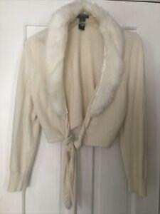 Lane Bryant Jacket 14/16 feather collar