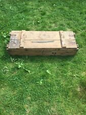 Vintage Wooden Ammunition Box