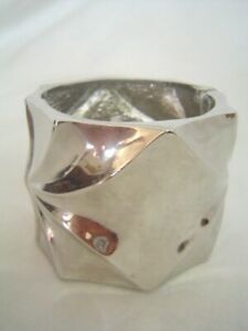 New BEBE in Silver Oversized Geometric Bracelet Браслет Mothers Day Gift Present