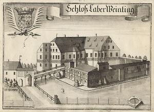 Schloß Laberweinting. - Kupferstich/Wening, um 1750