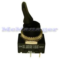 SPST Toggle Switch on-off  8A 250V AC 1 Circuits 4.8mm Terminals Nylon Lever