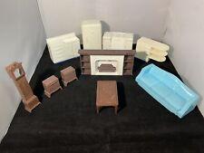 Vintage Plasco & Renewal Plastic Toy Dollhouse Furniture (31 pcs) Lot