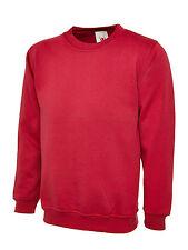 Men's Women's Olympic Sweatshirt Work Wear Jumper Plain Sweater Jersey Top Lot