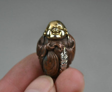 Collectibles Decorated Copper Silver Carving Buddha Exquisite Rare Pendant