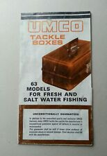 Vintage UMCO Advertising Booklet Brochure for Fishing Tackle Lure Boxs