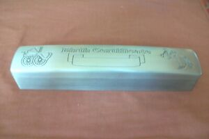 BIRTH CERTIFICATE HOLDER  PEWTER WITH  CERTIFICATE INSIDE-DARLING ELONGATED