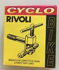Cyclo Gear Co Rivoli Chain Rivet Extractor & Riveter Tool w/ Instuctions & Box