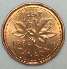 1982 Canada 1 Cent Penny-First Year of 12 Sided Penny