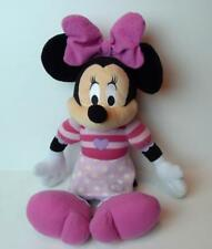 Minnie Mouse Purple Heart Pink Stripes Plush Doll 16""