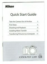 Nikon Coolpix L100 Quick Start Guide (20 pages, 2009)