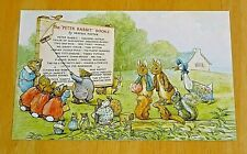 BEATRIX POTTER POSTCARD ~ THE END PAPER FROM 'THE TALE OF MR TOD ~ 1912 DESIGN