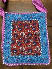 Indian Boho Hippy Festival Shoulder Tote Bag beads colourful