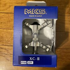 MKS JAPAN XC-III bear trap mountain bike MTB SILVER pedals Suntour XC-II