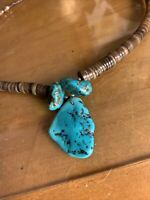 Vintage Navajo heishi, And Kingman Turquoise necklace 20 Inches