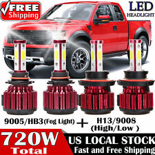 H13 9008 LED Headlight+9005 HB3 9145 9140 Fog Light KIT for 2004-2014 Ford F-150