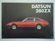 DATSUN 280ZX 2+2 Targa & 2 Seater orig 1981 UK Mkt Sale Brochure Nissan Fairlady