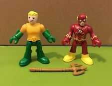 "FISHER-PRICE IMAGINEXT DC AQUAMAN & FLASH 2.5"" FIGURE SET SUPER FRIENDS COMICS"
