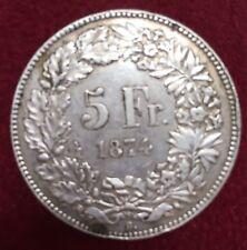 SUISSE 5 FRANCS ARGENT 1847 B      ETAT : TTB  Lot 236