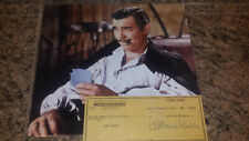 "* CLARK GABLE * signed 1949 personal check to author / assistant ""Jean Garceau"""