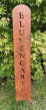 Gartenstecker Gartenstele Blumengarten 100cm  Edelrost Gartenschild Gedichttafel