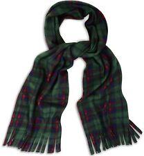 Green tartan check scarf-doux et confortable polaire écharpes avec bijoux de seins