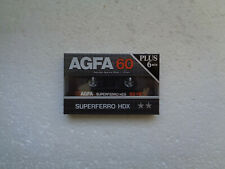 Vintage Audio Cassette AGFA Superferro HDX 60+6 * Rare From Germany 1985 *