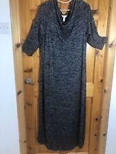 Soma Black White Jumper Maxi Dress Large Size 14 - 16 Long Sleeved Ankle Length