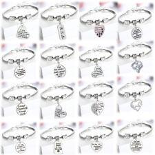 Heart Pendant Family Charm Bracelet Mother Grandma Sister Teacher Gifts Jewelry