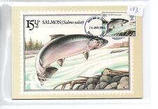 GB - PHQ CARDS -183- 1983 - BRITISH RIVER FISH - FRONT - FDI/SHS - COMPLETE  SET
